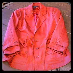 Jackets & Blazers - Orange 3/4 sleeve jacket